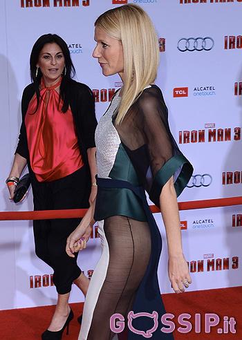"""Gwyneth, vestito trasparente alla premiere di """"Iron Man 3 ... Gwyneth Paltrow"""