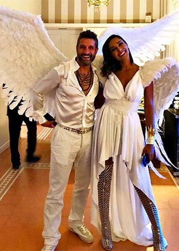 Juliana Moreira ed Edoardo Stoppa, angeli in love per Halloween