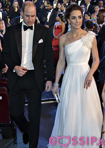 Kate Middleton ai BAFTA 2019 con il principe William: regina del red carpet
