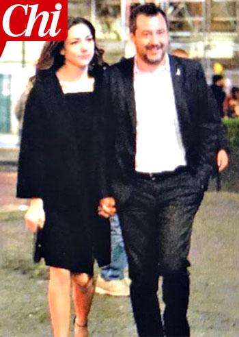 Matteo Salvini, prima uscita pubblica con la nuova fidanzata Francesca Verdini: lei ha solo 26 anni