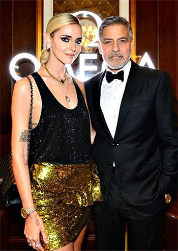 Chiara Ferragni con George Clooney all'evento Nasa: accanto al divo come una star di Hollywood