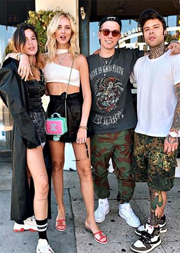 Chiara Ferragni e Fedez con Benjamin Mascolo e Bella Thorne a LA