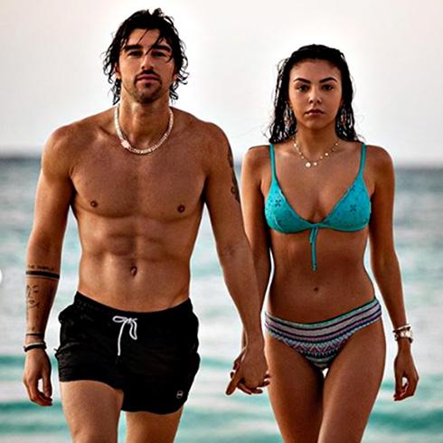 Andrea Damante e la nuova fidanzata Claudia Coppola alle Bahamas