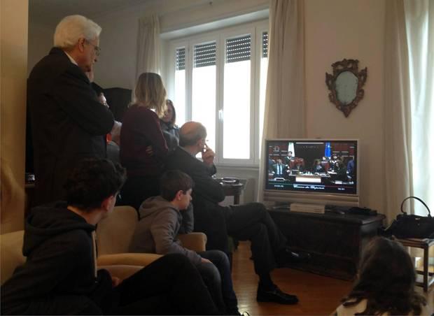 Sergio mattarella ha seguito la sua elezione in diretta for Diretta da montecitorio