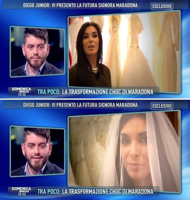 Diego Armando Maradona Jr. parla del matrimonio a ...