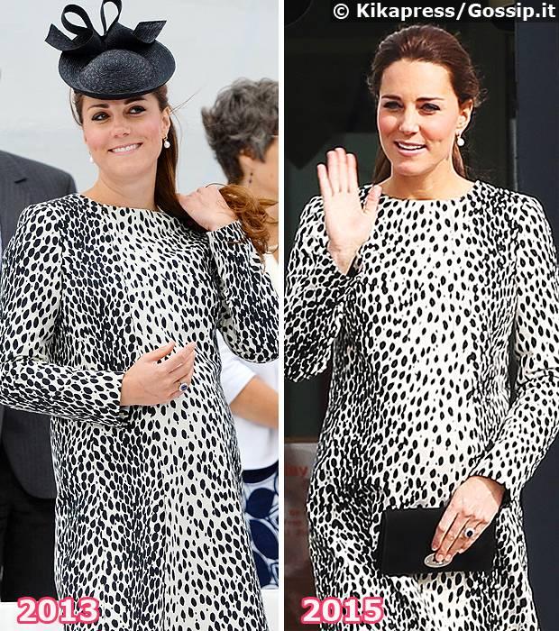 Eccezionale Kate Middleton al risparmio: in gravidanza ricicla i vestiti nelle  RS48