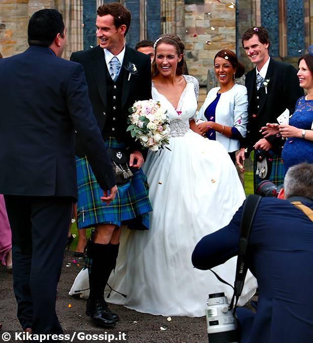 Matrimonio In Kilt : Andy murray ha onorato la tradizione scozzese e