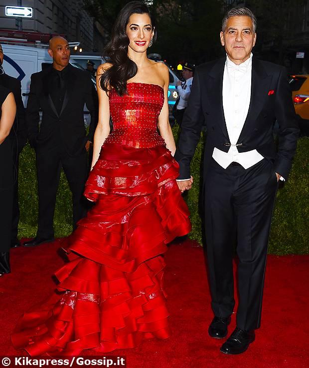 George Clooney e Alam Alamuddin, coppia 'in' del Met Gala ...