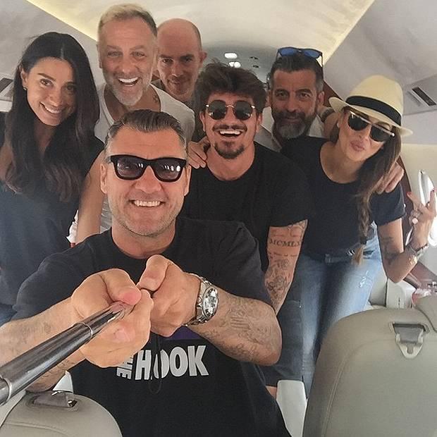 Aereo Privato Real Madrid : Bobo vieri cristina buccino gianluca vacchi giorgia