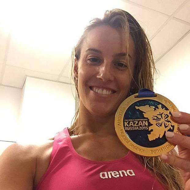 <b>Tania Cagnotto</b> al settimo cielo per l'oro nel trampolino di un metro ai <b>...</b> - 1438176648_tania_cagnotto_oro_tuffi_mondiali_kazan