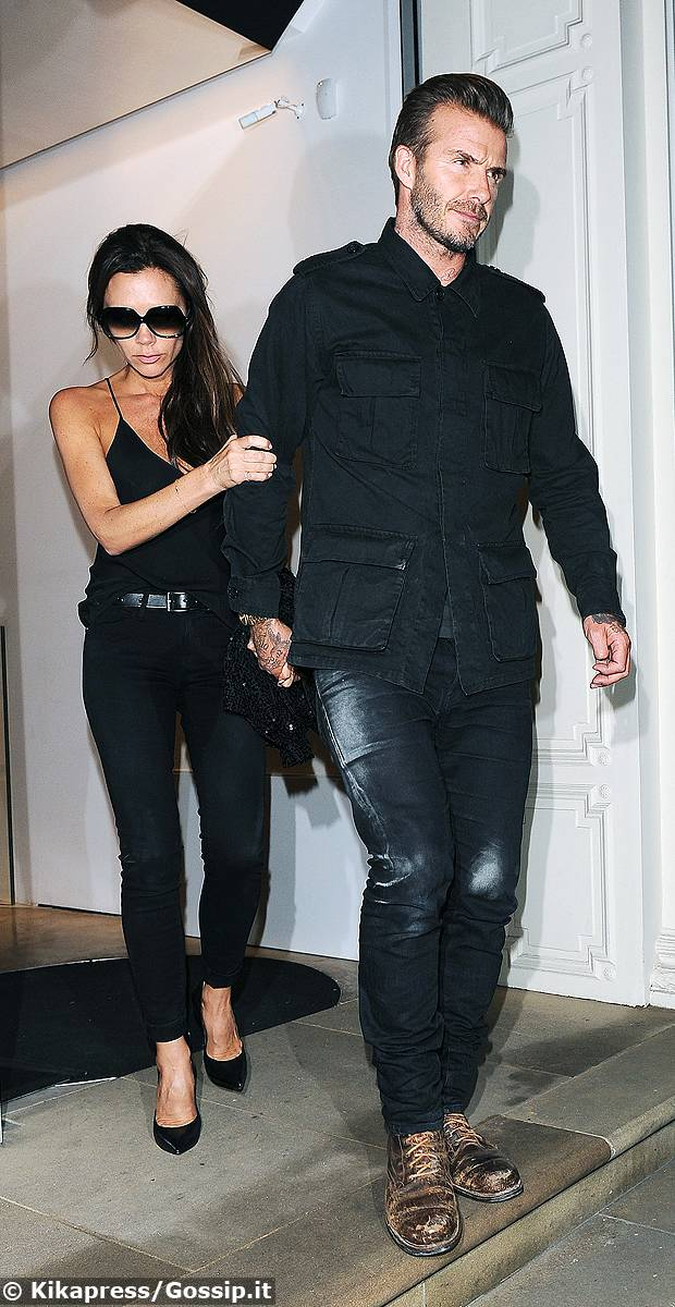 Victoria beckham con il marito david al party finale della for Quartiere mayfair londra