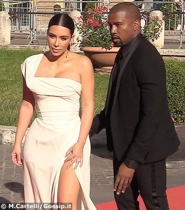 La regina dei reality Usa con il marito Kanye West