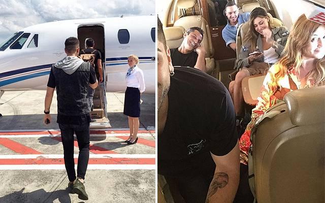 Aereo Privato Di Abramovich : Belen rodriguez partenza con famiglia e amici per ibiza