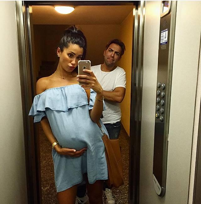 Federica Nargi A Milano Incinta Aspettando La Bebè Che