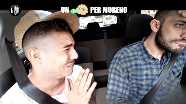 Un figlio per Moreno, il rapper finisce in lacrime a Le Iene