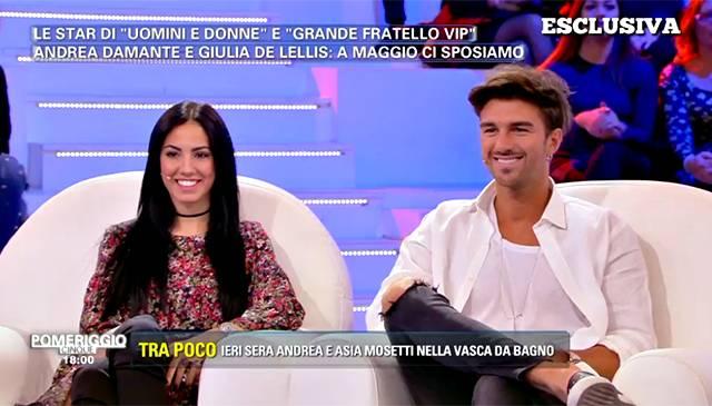 Gossip Andrea Damante e Giulia De Lellis: