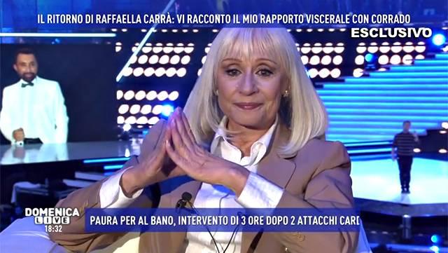 Domenica Live, Raffaella Carrà annuncia il proprio ritiro