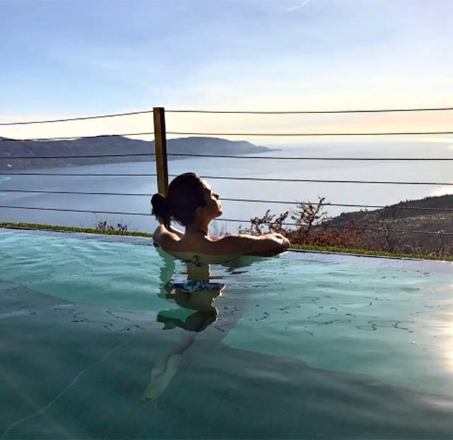 Federica nargi e alessandro matri si rilassano sul lago di - Bagno caldo in gravidanza ...