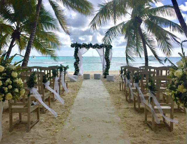 Matrimonio ai Caraibi per Veronica Maya e Marco Moraci