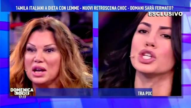 Giulia De Lellis, lite in diretta a Domenica Live