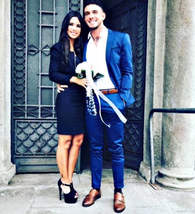 Lucas Peracchi nel giorno del matrimonio con Silvia Corrias