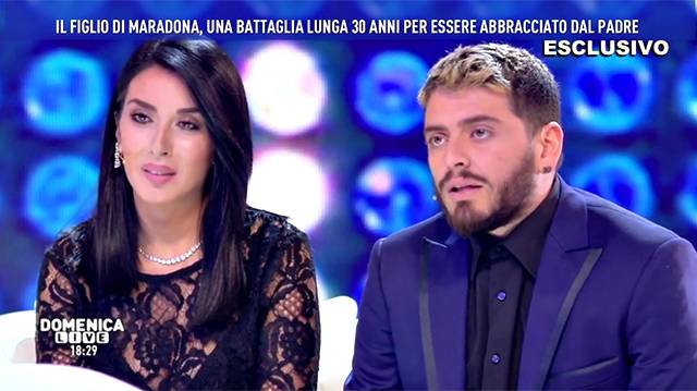 Maradona Junior a 'Domenica Live': 'Mio padre mi ha ...