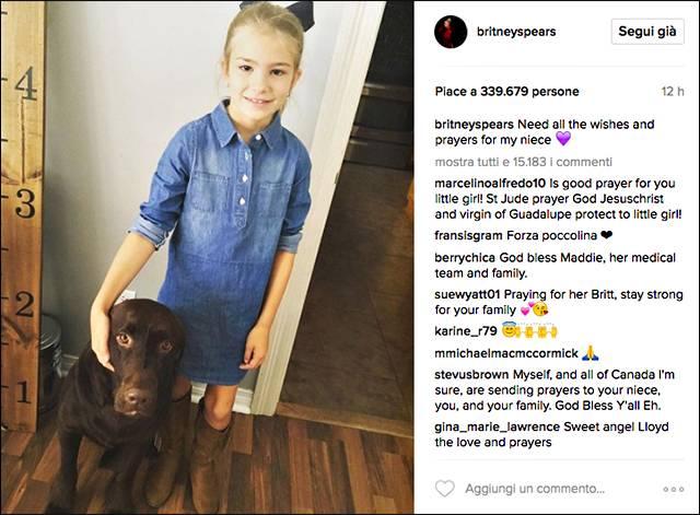 Britney Spears: incidente gravissimo per la sua nipotina di 8 anni