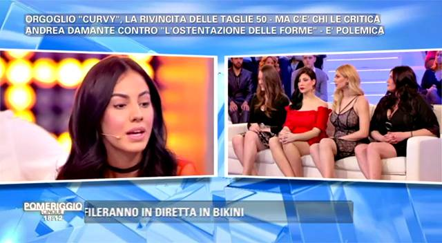 Pomeriggio Cinque: Giulia De Lellis contro le donne grasse