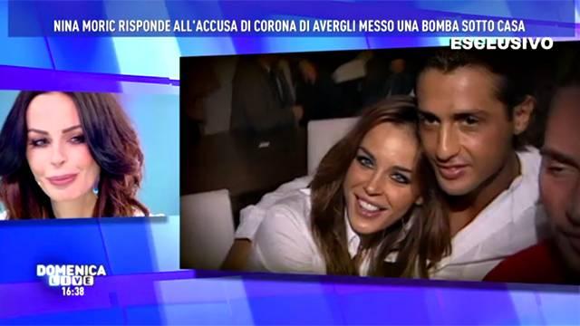 Nina Moric denuncia Fabrizio Corona per calunnia, l'annuncio a Domenica Live