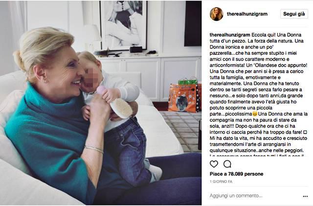 Michelle loda la figlia Aurora: