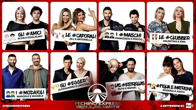 Pechino Express 6, il cast ufficiale: tutti i nomi