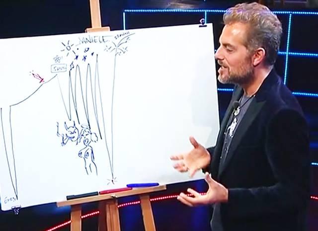 Filippa Lagerback mostra l'anello di fidanzamento in diretta tv da Fabio Fazio