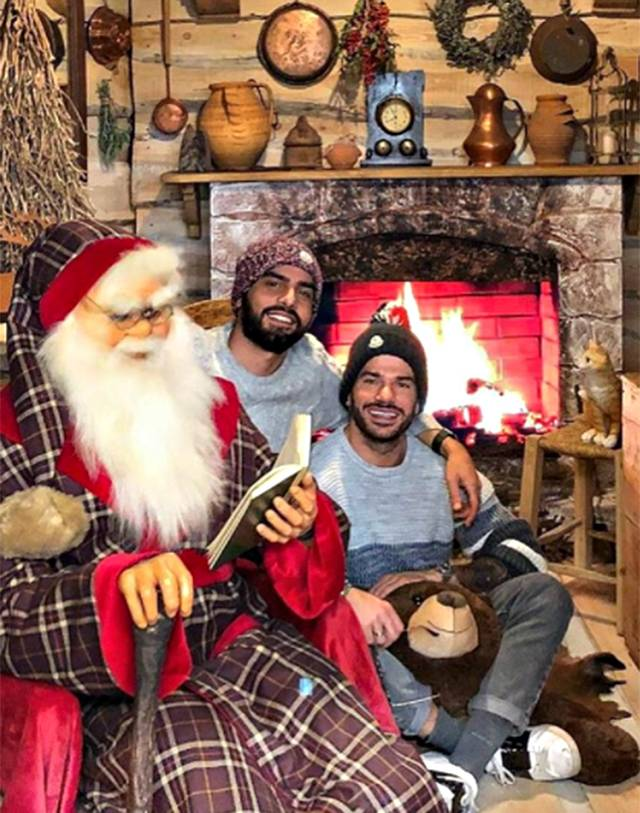 Mario Serpa e Claudio sono baci a Natale sono tornati insieme