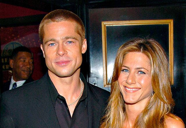Aniston e Pitt (con Shiloh) nella villa di Clooney