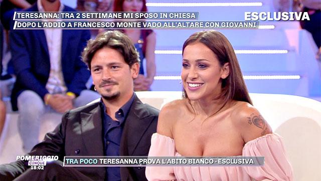 Teresanna Pugliese e Giovanni Gentile negli studi di  Pomeriggio 5  b4998d8487f