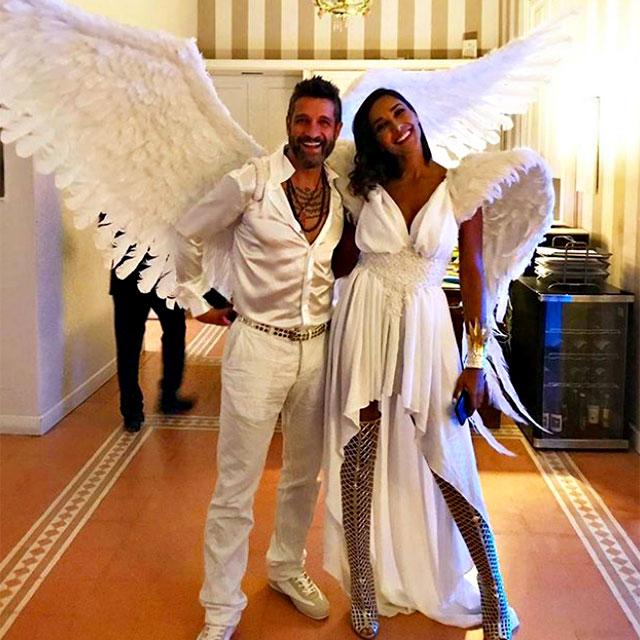 Juliana Moreira ed Edoardo Stoppa vestiti da angeli ae992ff9a9f5