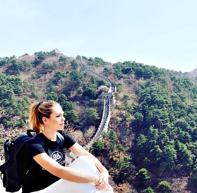 Ilary Blasi Grande Muraglia cinese cina