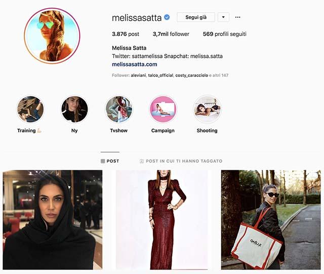 Melissa Satta non è più