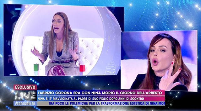 Karina Cascella e Nina Moric se ne dicono di tutti i colori