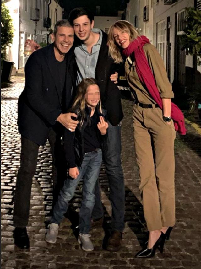 Alessia Marcuzzi con il figlio Tommaso Inzaghi, Paolo Calabresi Marconi e Mia