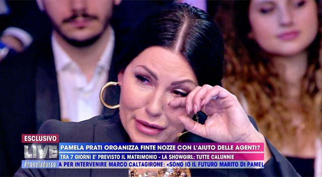 Eliana Michelazzo piange in diretta tv