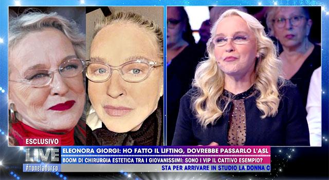 Eleonora Giorgi, com'era prima del lifting e com'è oggi