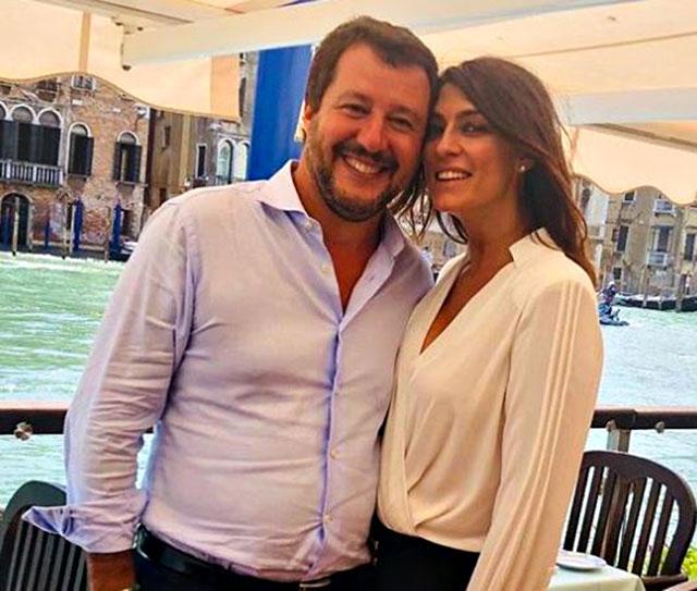 Elisa Isoardi all'epoca della sua relazione con Matteo Salvini