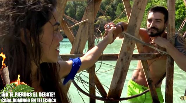 Fabio Colloricchio e Violeta Mangrinan a Supervivientes