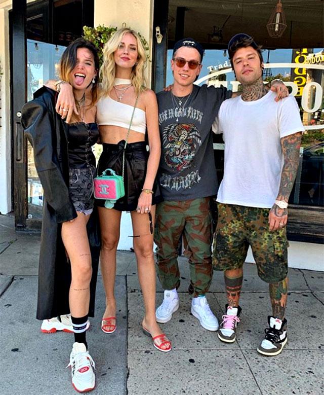 Chiara Ferragni e Bella Thorne, Benjamin Mascolo e Fedez, tutti insieme a Los Angeles