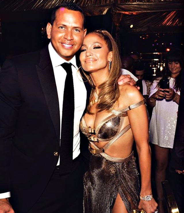 Jennifer Lopez e Alex Rodriguez al party per i 50 anni della pop star a Miami