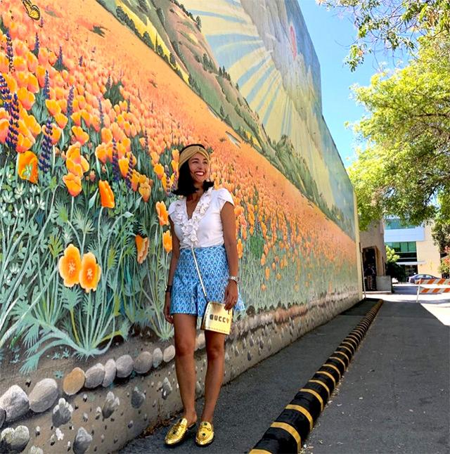 Caterina Balivo a Cupertino, in California