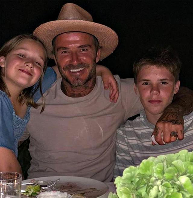 David a cena con Harper e Cruz