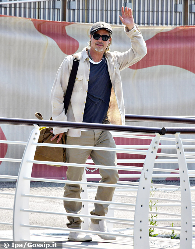 Brad Pitt al suo arrivo a Venezia martedì 27 agosto 2019