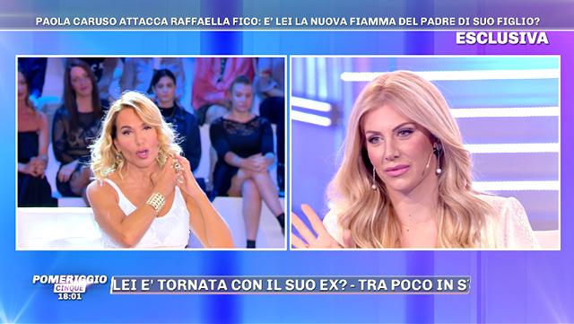 Paola Caruso è stata ospite della prima puntata della nuova stagione di 'Pomeriggio Cinque'